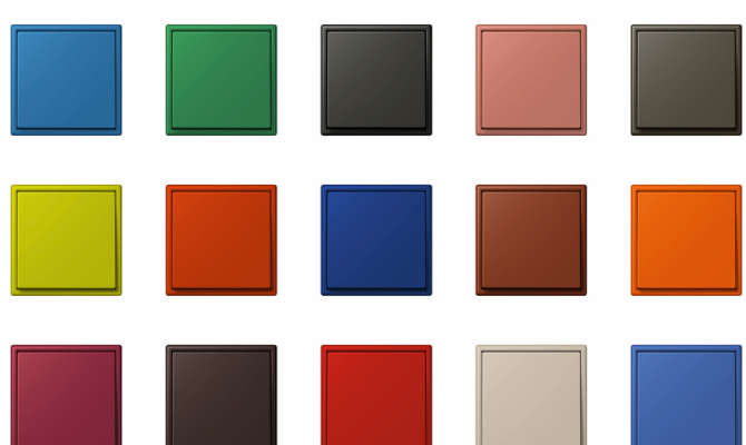 la serie ls 990 de jung disponible en la gama de colores. Black Bedroom Furniture Sets. Home Design Ideas
